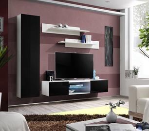 Dzīvojamās istabas mēbeļu komplekts ASM Fly R1 Black/White