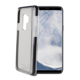 Celly Hexagon Back Case For Samsung Galaxy S9 Plus Transparent/Black
