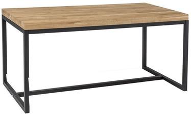 Kafijas galdiņš Signal Meble Loras Oak/Black, 1100x600x540 mm