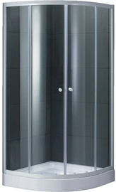 Dušas kabīne Domoletti K-251BW, masāžas, pusapaļā, 900x900x2000 mm
