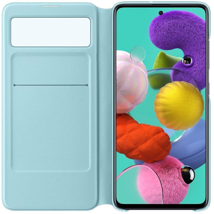 Samsung S View Wallet Bookcase With Intelligent Display For Samsung Galaxy A51 Black