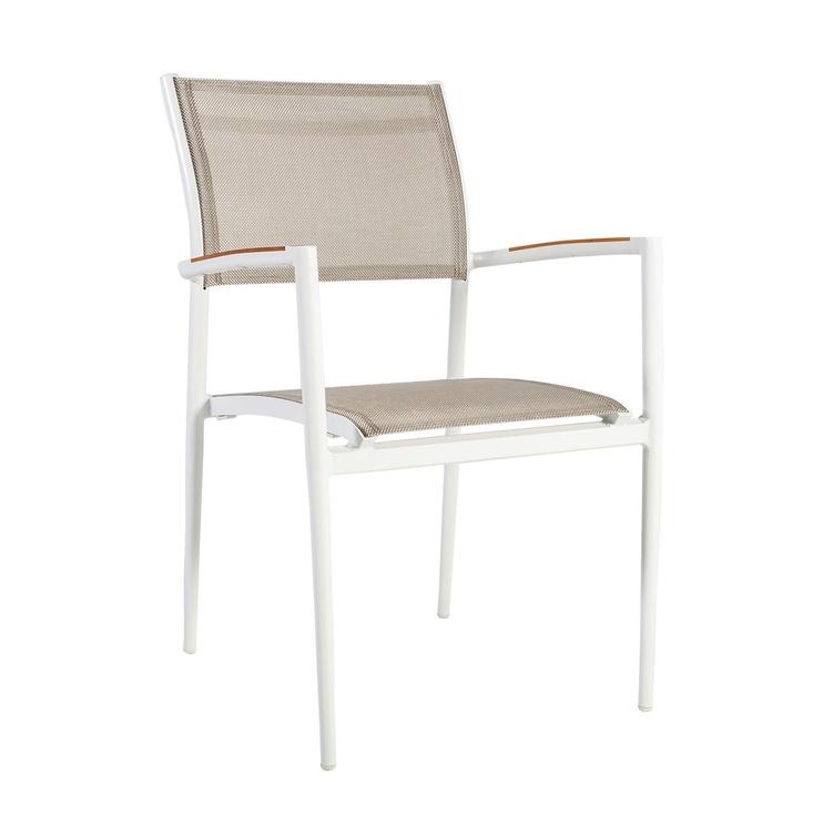 Home4you Greenwood Garden Chair 55x60x83cm Grey