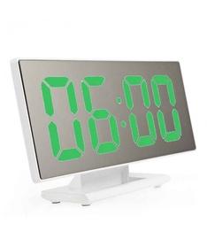 Часы LED, белый/зеленый