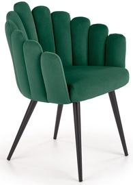 Atzveltnes krēsls Halmar K410 Dark Green, zaļa, 62 cm x 62 cm x 85 cm