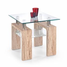 Kafijas galdiņš Halmar Diana H Kwadrat San Remo Oak, 600x600x550 mm