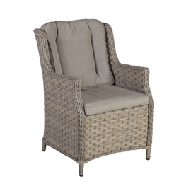 Dārza krēsls Home4You Pacific w/ Cushion Beige/Grey