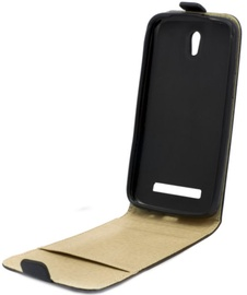 Telone Shine Pocket Vertical Book Case For HTC One A9 Black