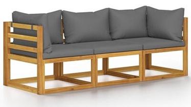 Садовый диван VLX, коричневый/серый, 138 см x 70 см x 60 см