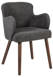 Atzveltnes krēsls Home4you Eleanor Dark Grey, 50x76x59 cm