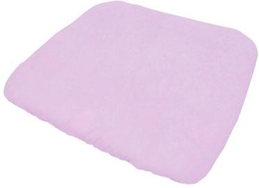 Чехол на пеленальный матрас Lulando Terry M, 75x65 см, белый/розовый
