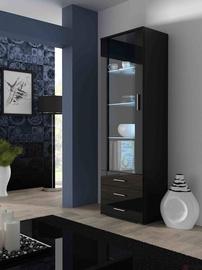 Шкаф-витрина Cama Meble Soho S1, черный, 60x41x192 см
