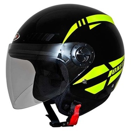 Shiro Helmet SH-62 Oxford Black Fluor Yellow XL