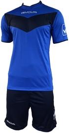 Комплект (шорты и футболка) Givova Vittoria Set Blue/Black XS