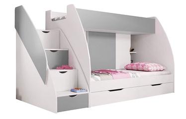Двухъярусная кровать Idzczak Meble Marcinek White/Grey, 255x125 см