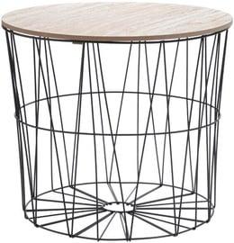 Kafijas galdiņš 4Living, melna/bēša, 460x400x410 mm