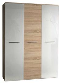 Skapis ASM Big Sonoma Oak/White Gloss, 135x55x190 cm