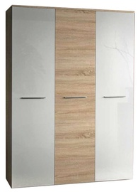 ASM Big Wardrobe Sonoma Oak/White Gloss