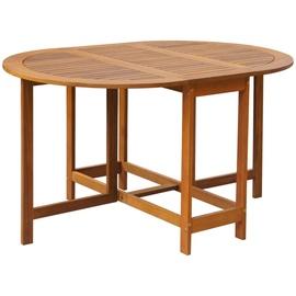 Dārza galds VLX Garden Table 42659, brūna, 130 x 90 x 72 cm