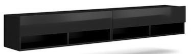 ТВ стол Vivaldi Meble Derby 200, черный, 2000x310x300 мм