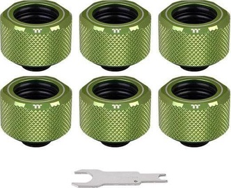Thermaltake Pacific C-PRO G1/4 PETG Tube 16mm OD Compression Green 6-Pack
