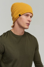 Audimas Knitted Merino Wool Hat With Cashmere Yellow