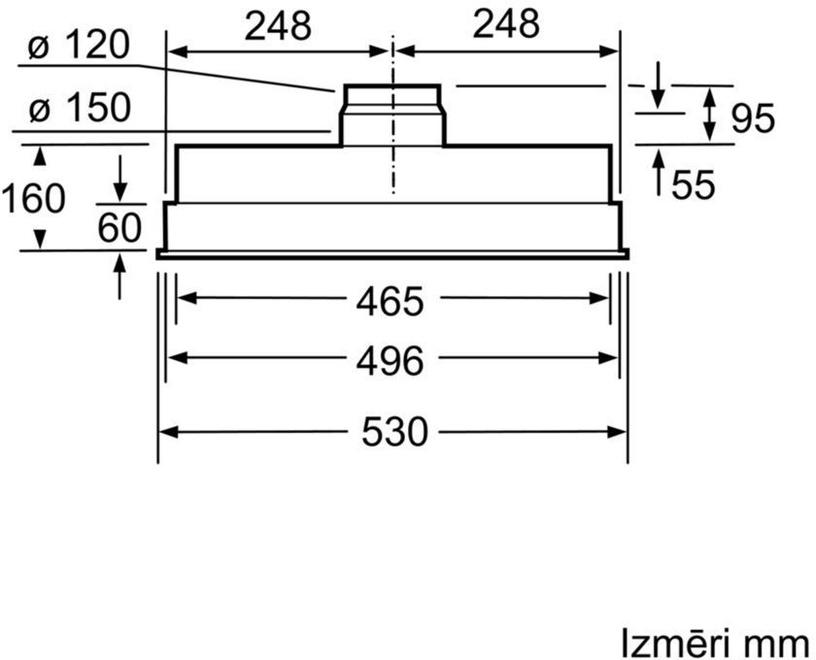 Iebūvēts tvaika nosūcējs Bosch DHL555BL