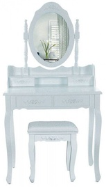 Dressing Table With Mirror White