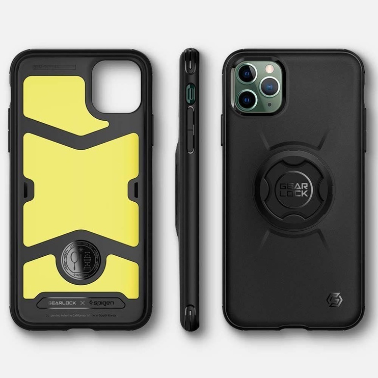 Spigen Gearlock Bike Mount Back Case For Apple iPhone 11 Pro Black