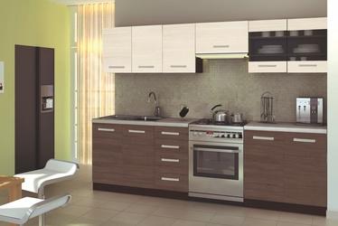 Virtuves komplekts Halmar Amanda 2 Wenge/Oak/Granite, 2.6 m