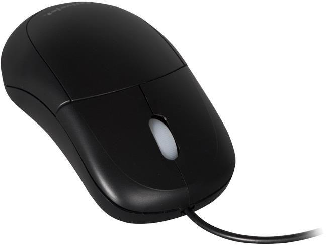 Компьютерная мышь ActiveJet AMY-146 Black, проводная, оптическая