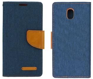 Forcell Canvas Flexi Flip Book Case For Xiaomi Redmi 5A Dark Blue