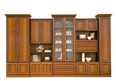 Black Red White Wiki C Wall Unit Aosta Walnut Dark