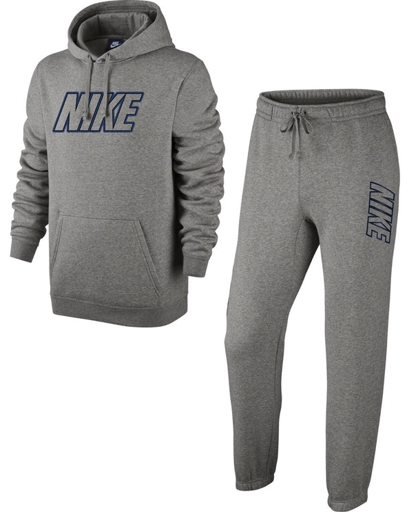 Nike M NSW Fleece Tracksuit 804306 063 Grey XXL