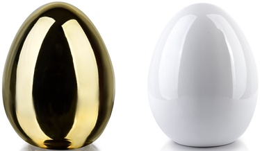 Mondex Lila Egg Ceramic Figure Gold/White 9x13cm