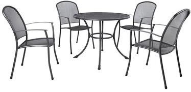 Āra mēbeļu komplekts Home4you Nety K41204, pelēks, 4 sēdvietas
