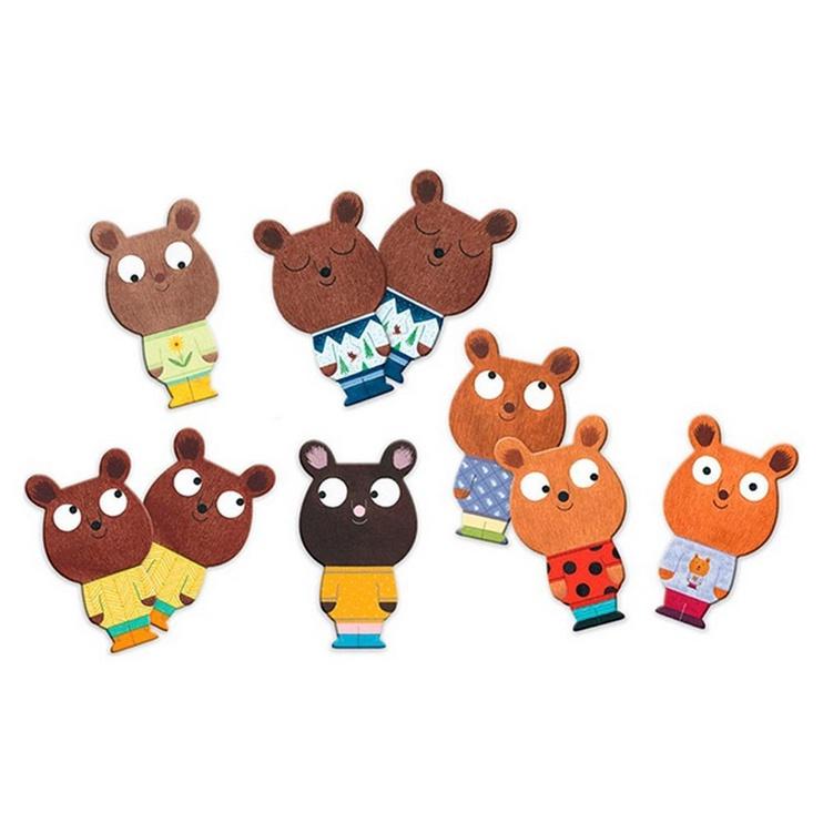 Djeco Educational Games Memo Bear Game