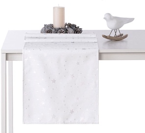 AmeliaHome Stardust AH/HMD Tablecloth Silver 30x100cm