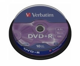 Verbatim DVD+R Datalife 4.7Gb 16x Spindle 10pcs