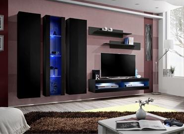 ASM Fly P9 Living Room Wall Unit Set Black