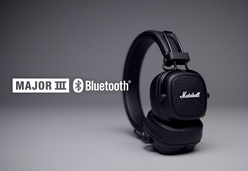 Austiņas Marshall Bluetooth Major III, bezvadu