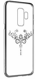 Devia Crystal Iris Back Case With Swarovsky Crystals For Samsung Galaxy S9 Plus Silver
