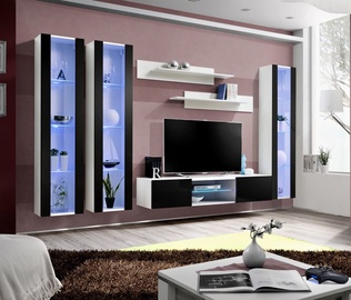 Dzīvojamās istabas mēbeļu komplekts ASM Fly P2 Black/White