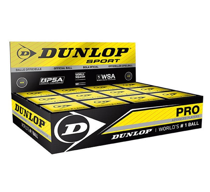 Dunlop PRO PSA/WSA Official Squash Balls 12pcs White