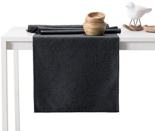 AmeliaHome Gaia AH/HMD Tablecloth Dark Grey 30x100cm
