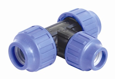 STP Fittings 3-Way Connector PP 90° 50mm