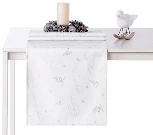 AmeliaHome Christmas Eve AH/HMD Tablecloth Silver 40x120cm