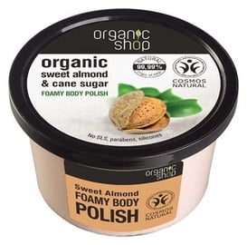 Organic Shop Sweet Almond Foamy Body Polish 250ml