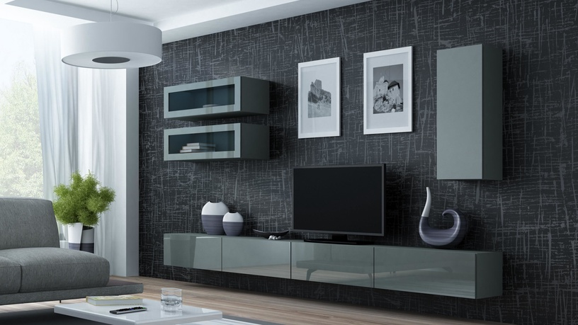 Cama Meble Vigo 90 Full Cabinet Grey/Grey Gloss