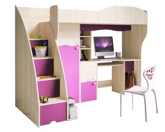 Двухъярусная кровать Idzczak Meble Bajka Ash/Pink, 242x122 см