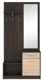 Black Red White Halway Unit Nepo Plus Wenge/Sonoma Oak